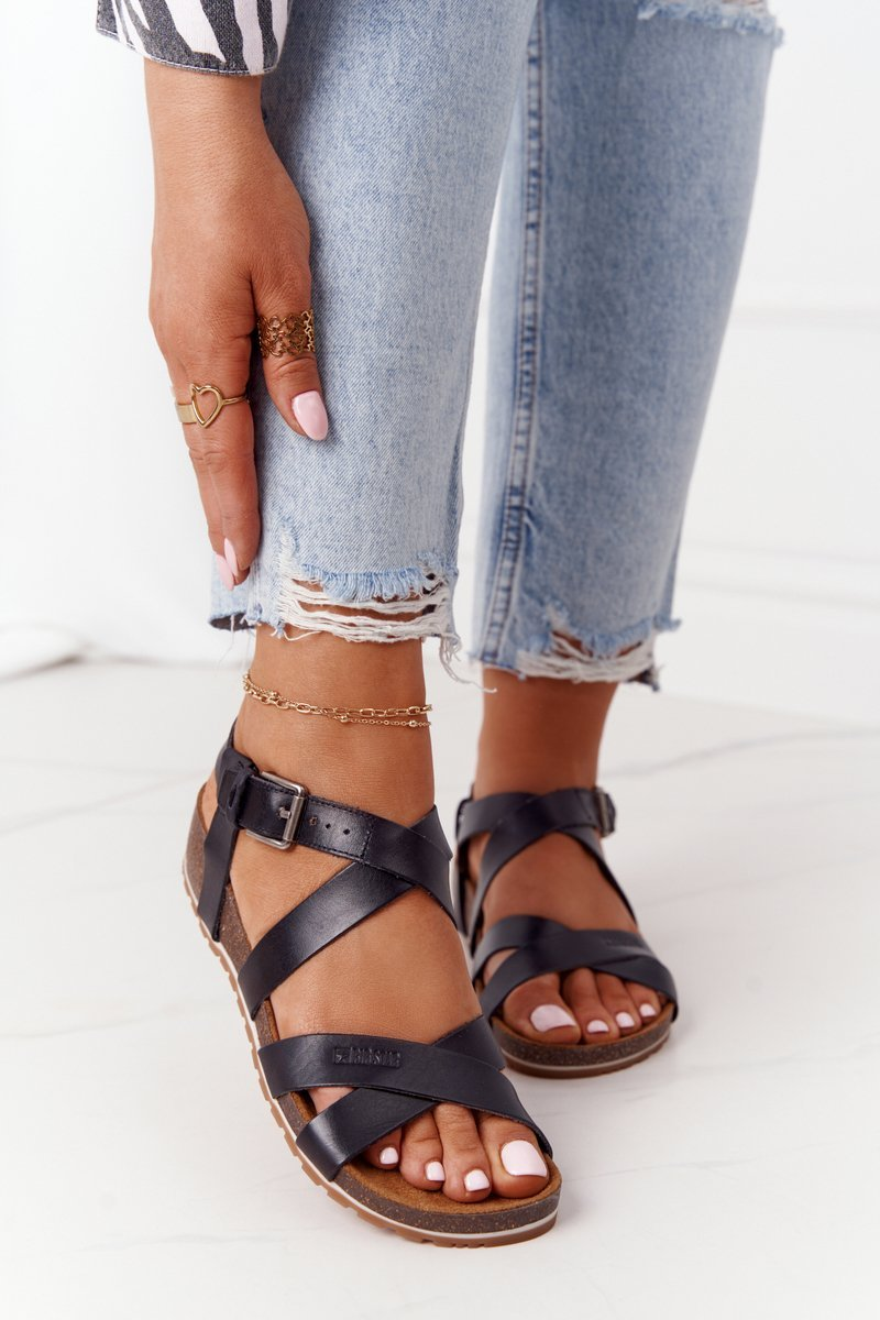 Sandals On The Cork Sole Big Star DD274A009 Black