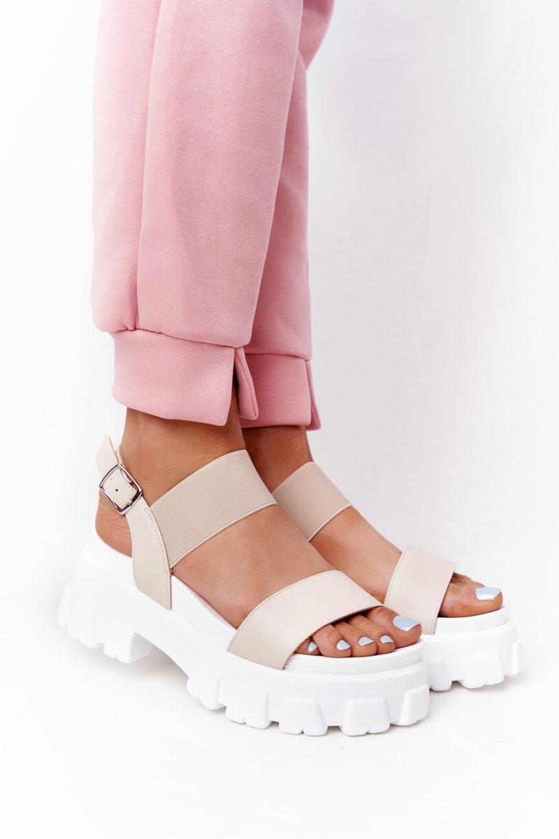 Sandals On The Platform Beige Vagabond