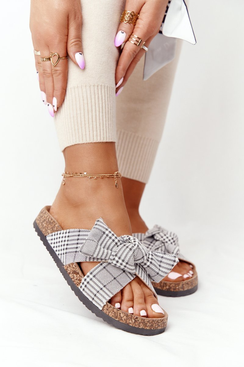 Slippers On The Cork Sole Vinceza 20-30105 Grey