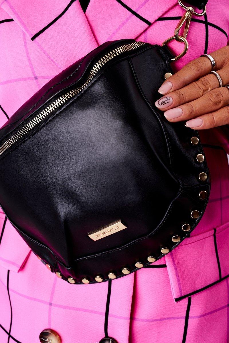 Small Purse Kidney Bag 2in1 Bruno Rossi Black