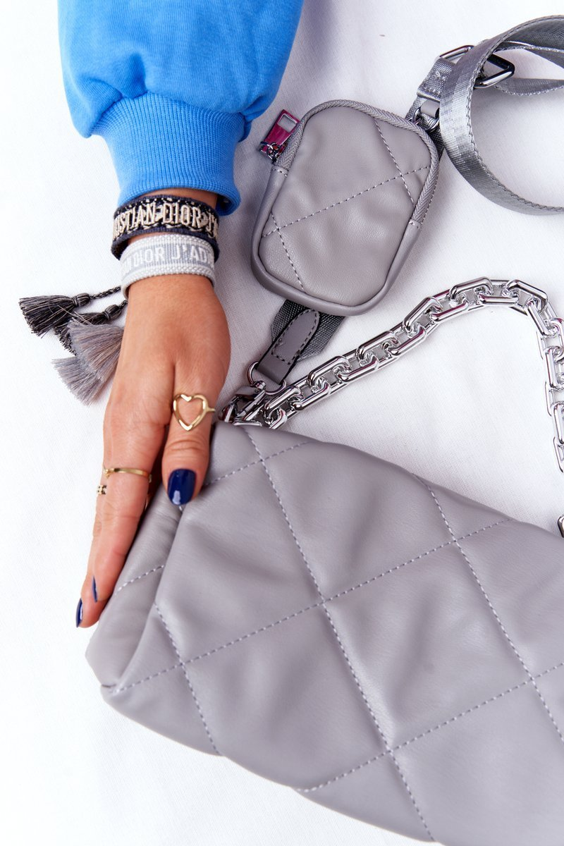 Small Shoulder Bag With A Sachet Barcelona Grey