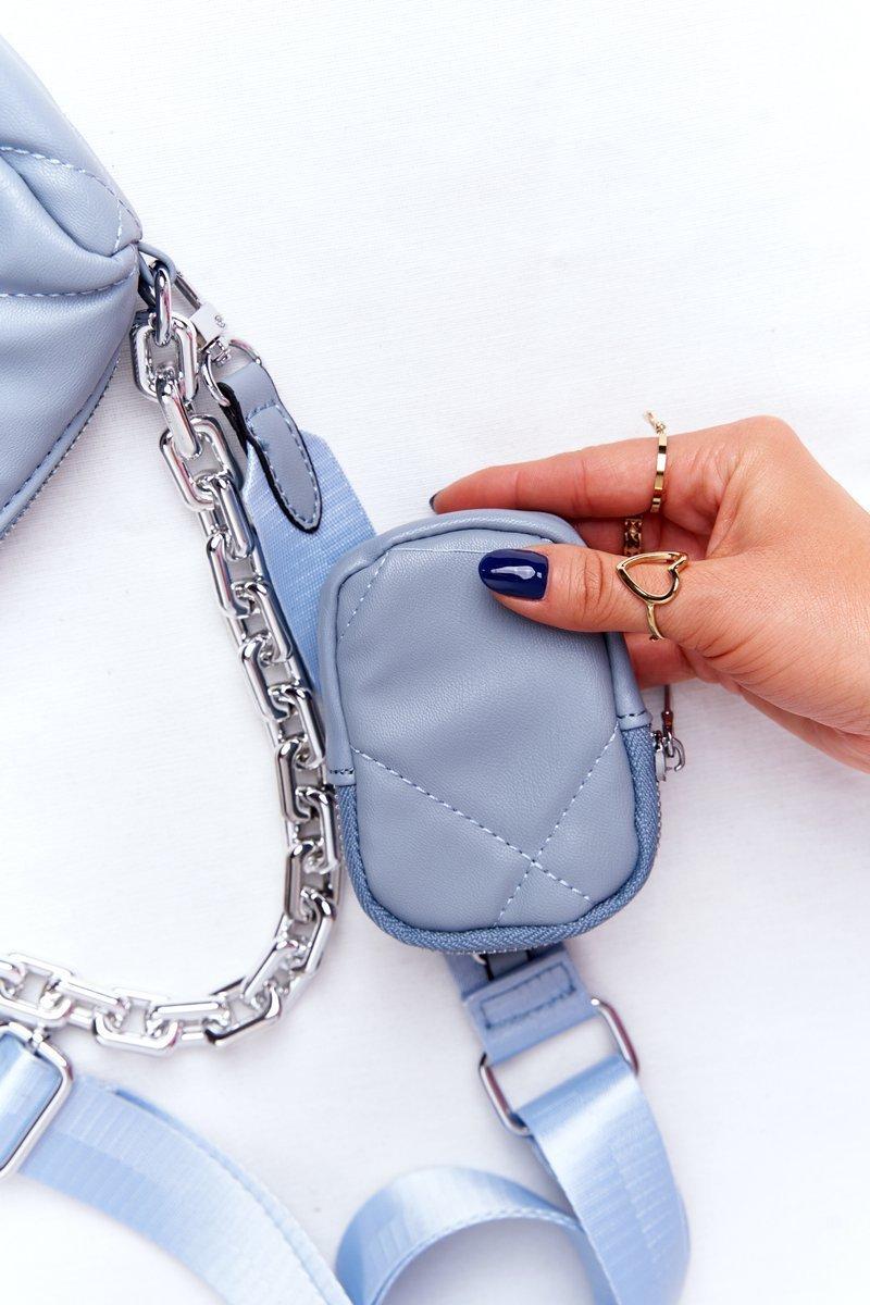 Small Shoulder Bag With A Sachet Barcelona Light Blue