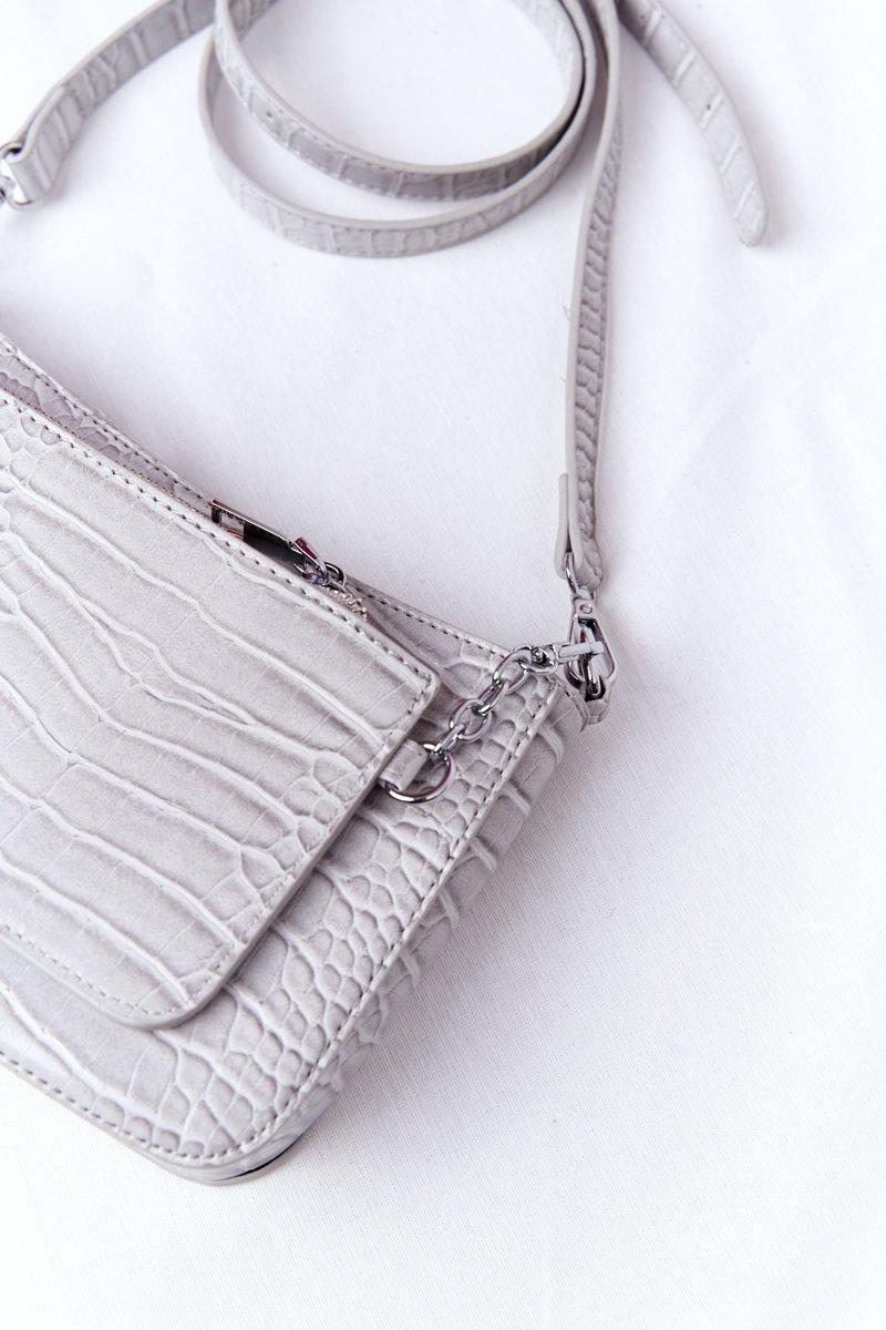 Small Shoulder Bag With A Sachet Paris Grey