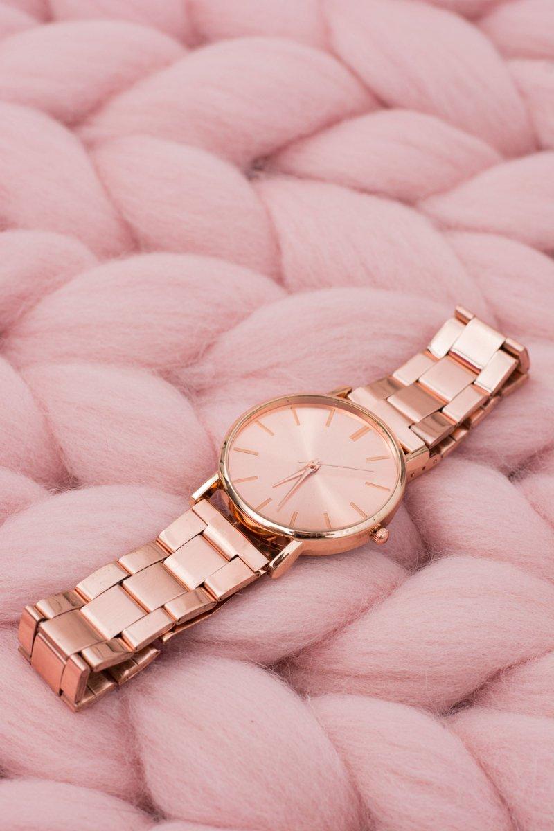 Stylish Copper Women Watch with Bracelet