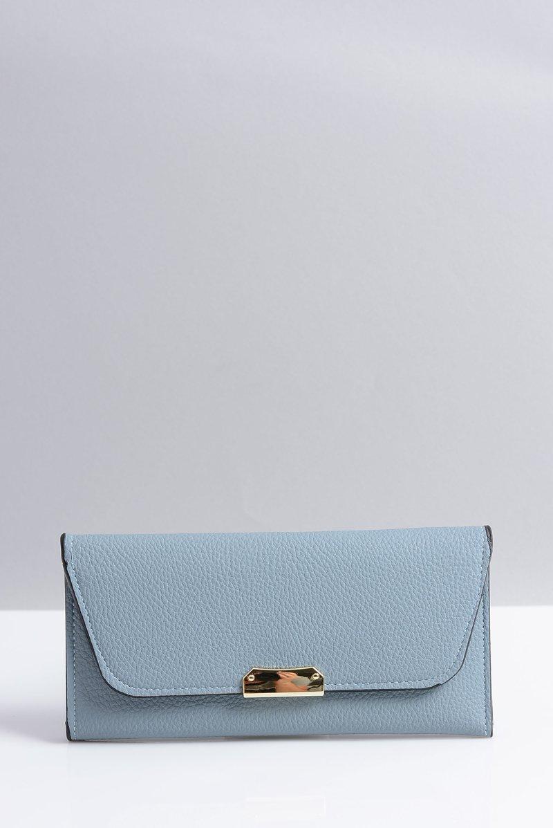 Stylowy Duży Niebieski Portfel Damski
