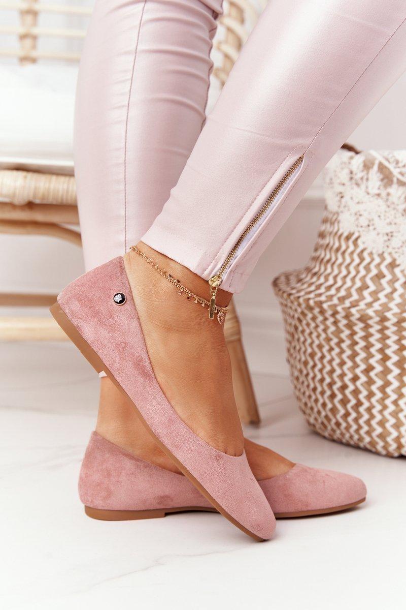 Suede Ballerinas Sergio Leone BL622 Pink