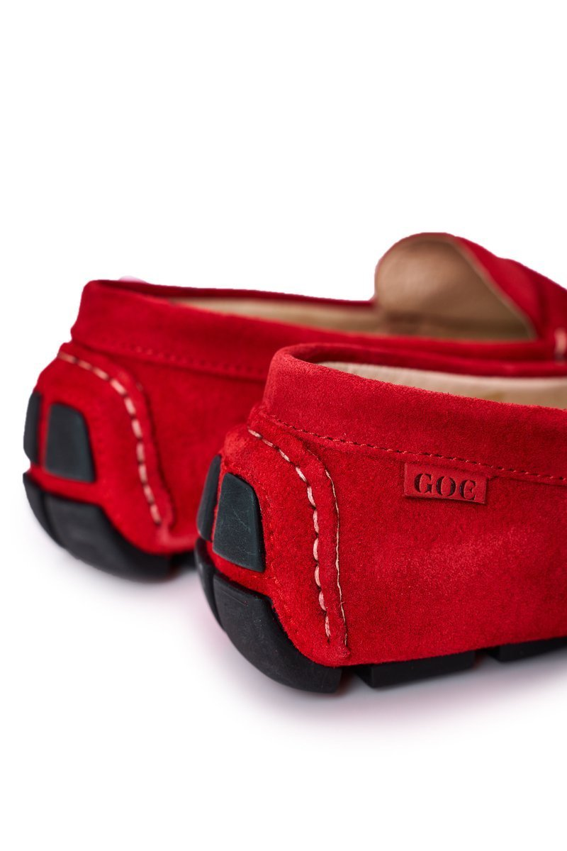 Suede Casual Loafers GOE HH1N4066 Red