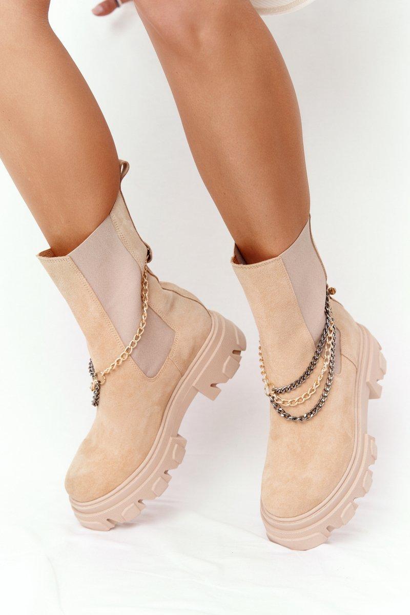 Suede Chelsea Boots Lewski Shoes 2998-0 Sand