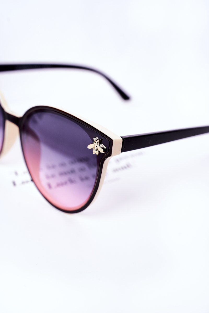 Sunglasses With A Fly Black-Beige Ombre