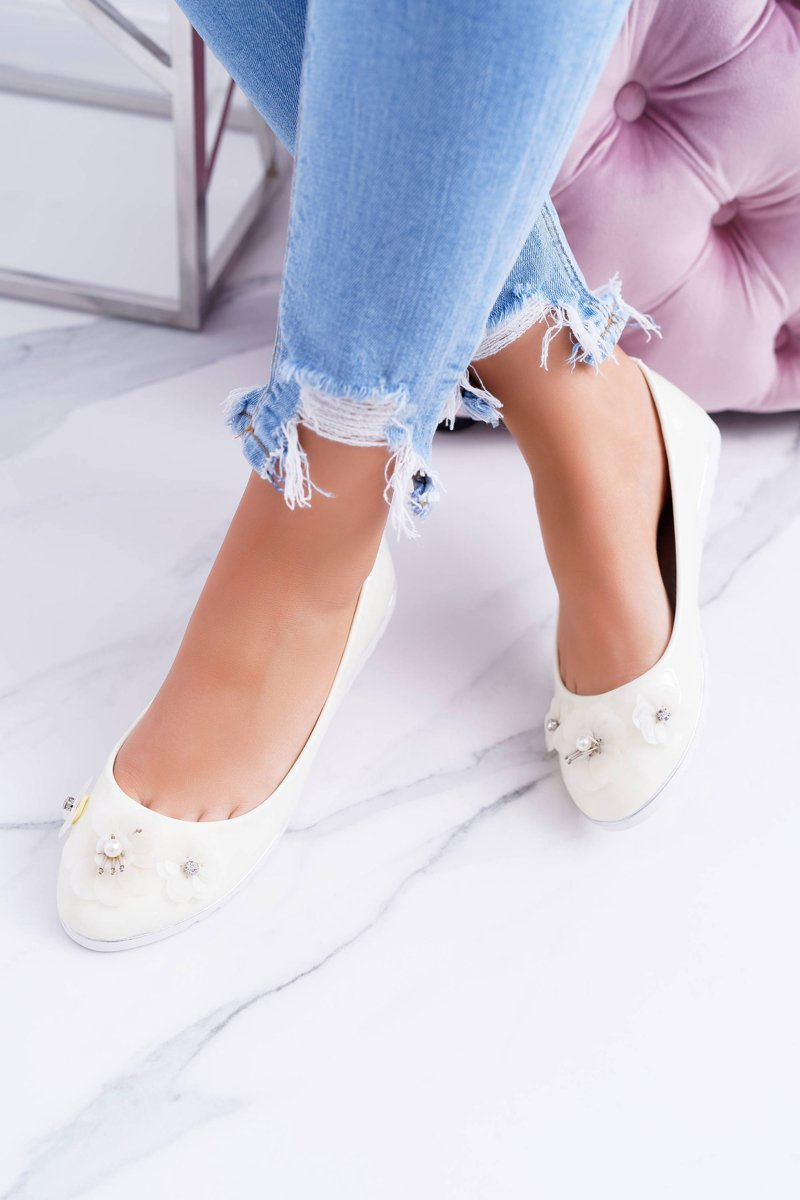 Vices   Lacquered Pastel Women's Ballerinas With Flower Neli
