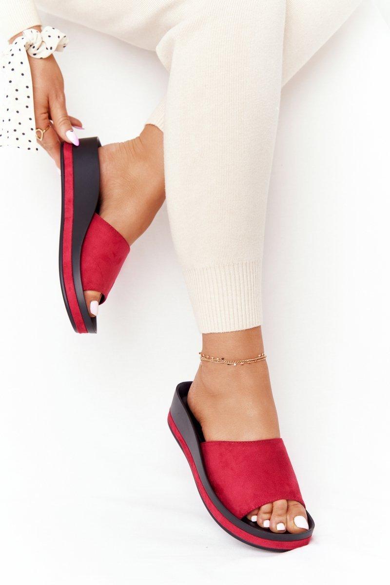 Wedge Slippers Vinceza 21-17113 Red