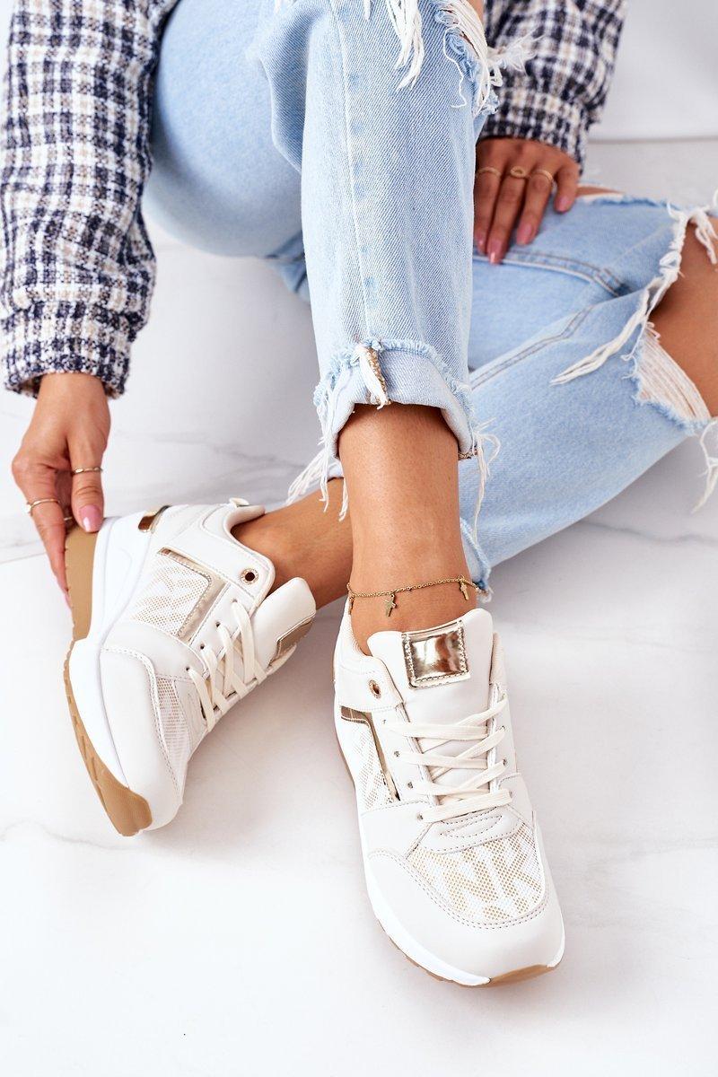 Wedge Sneakers Beige Weekend