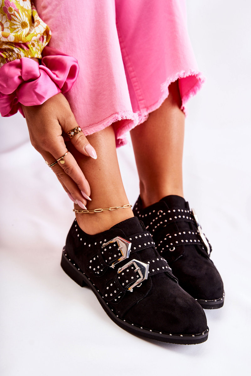 Women's Brogues With Buckles Lu Boo Black