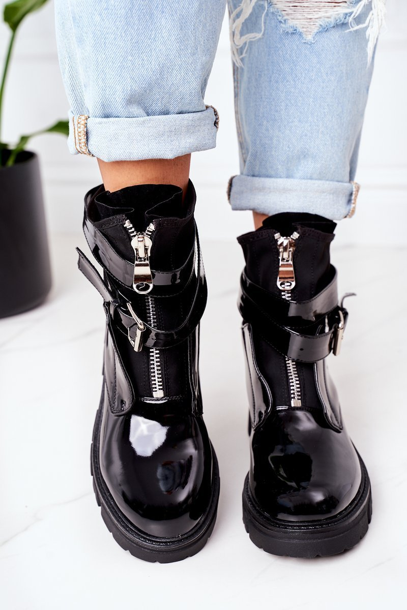 Women's Insulated Boots Black Not Realy