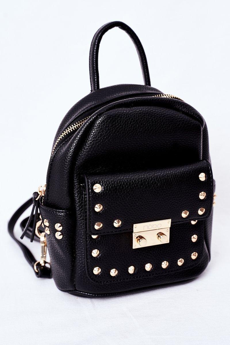 Women's Leather Backpack NOBO K4110 Czarny