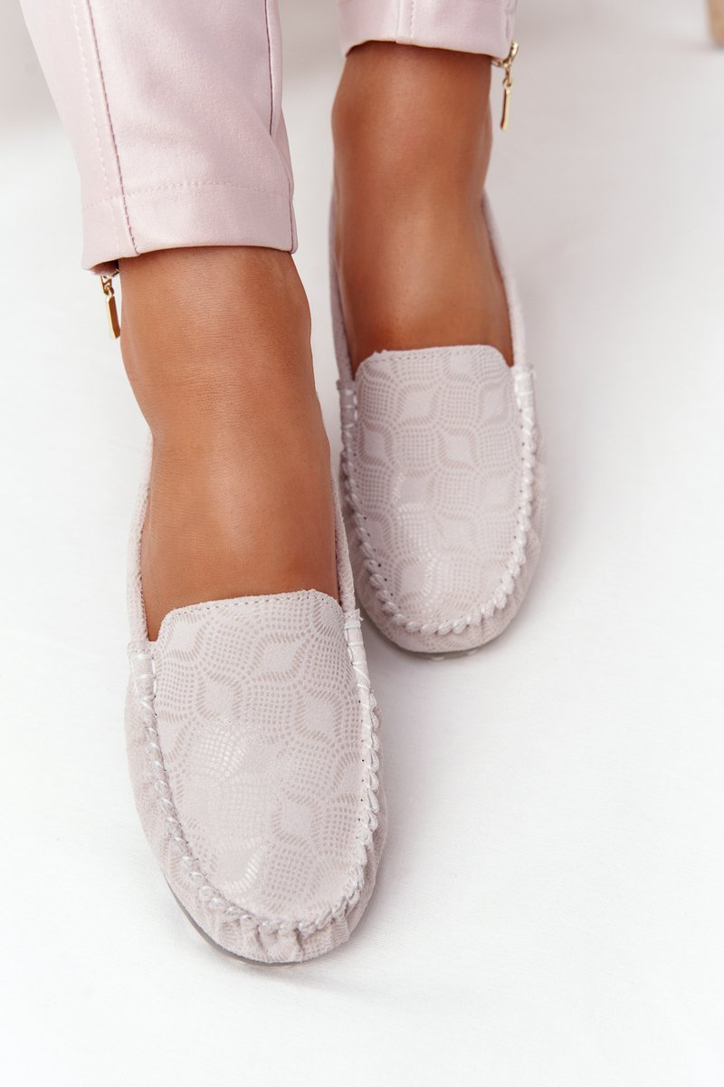 Women's Leather Loafers RIO FLORE Eco-Friendly Beige