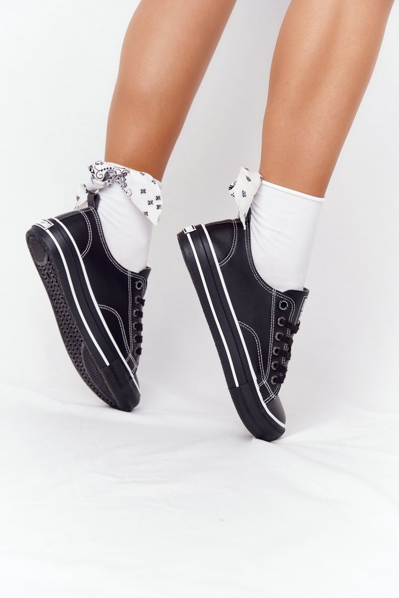 Women's Leather Sneakers BIG STAR HH274145 Black