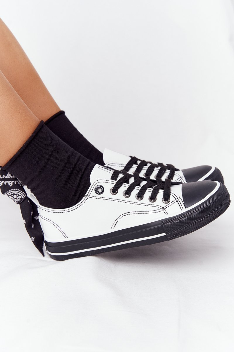 Women's Leather Sneakers BIG STAR HH274147 White-Black