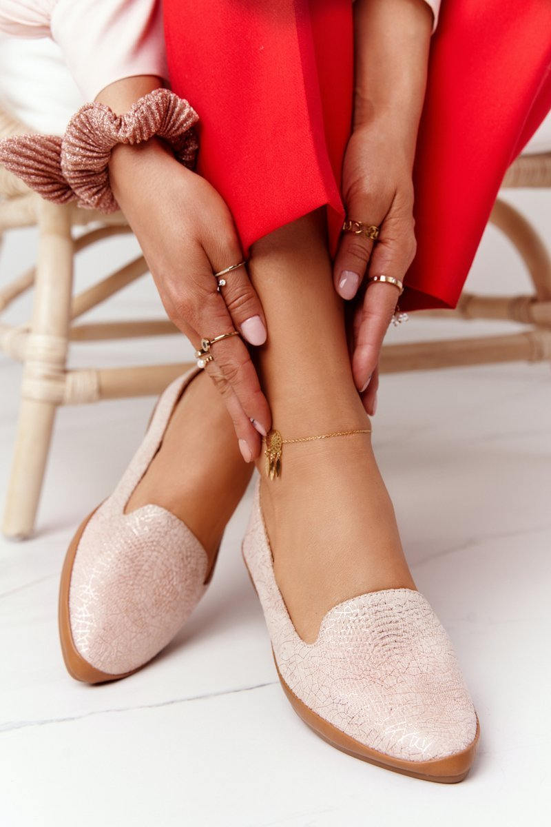 Women's Loafers Sergio Leone MK700 Suede Pink