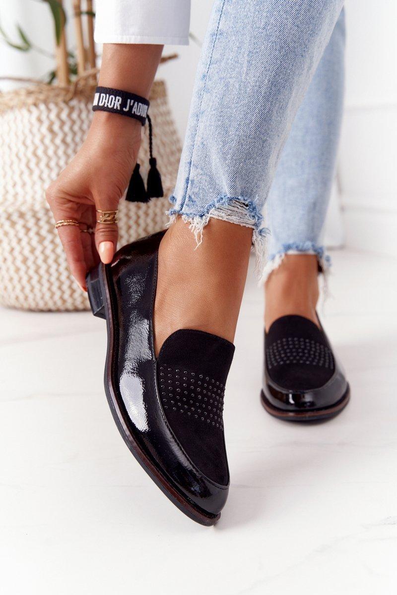 Women's Patent Loafers Sergio Leone PB254 Black