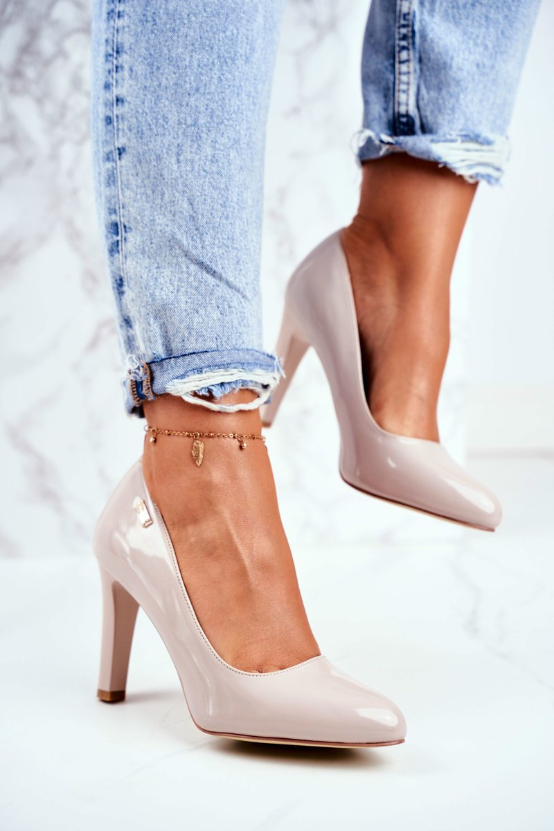 Women's Pumps Varnished Light Grey Sergio Leone Campbell