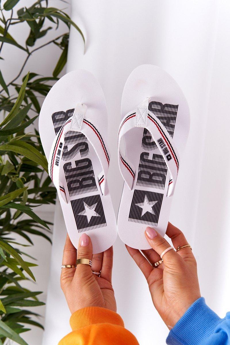 Women's Sliders Flip-Flops Big Star HH274A062 White