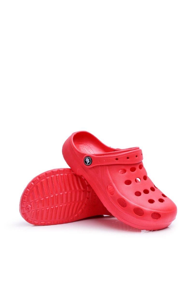 Women's Slides Foam Red Crocs EVA