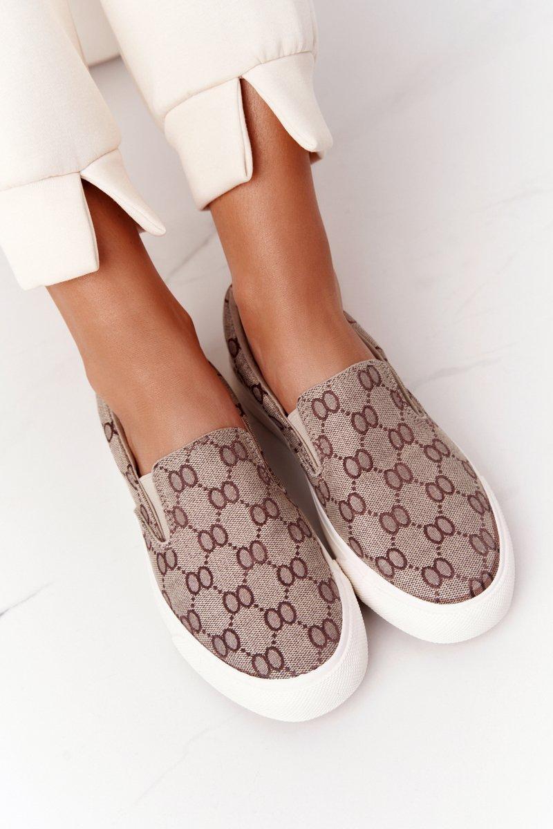 Women's Slip-On Sneakers Khaki Challenge