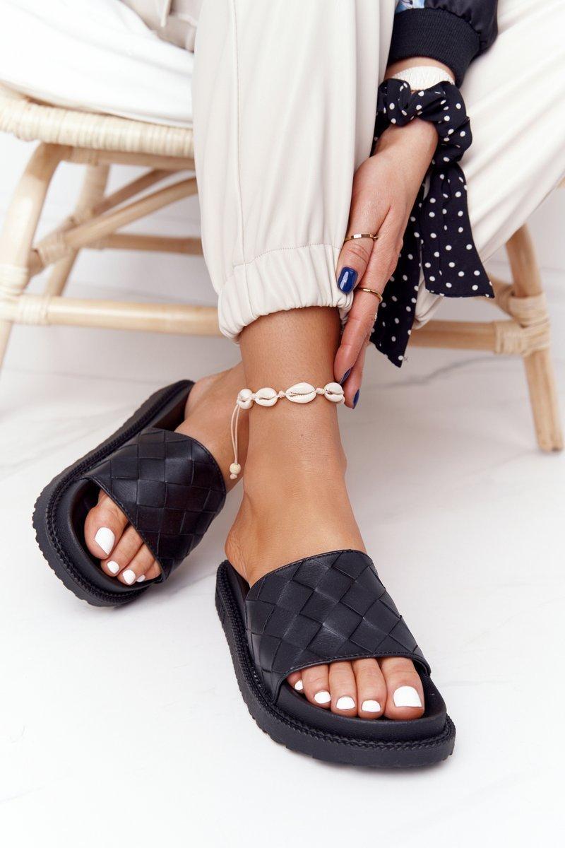 Women's Slippers On A Platform Big Star HH274684 Black