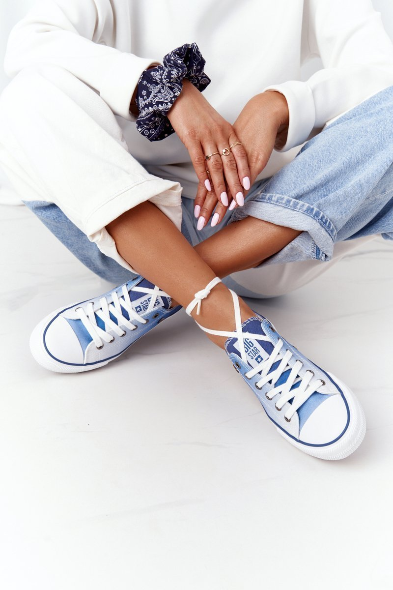 Women's Sneakers BIG STAR HH274129 Ombre Navy