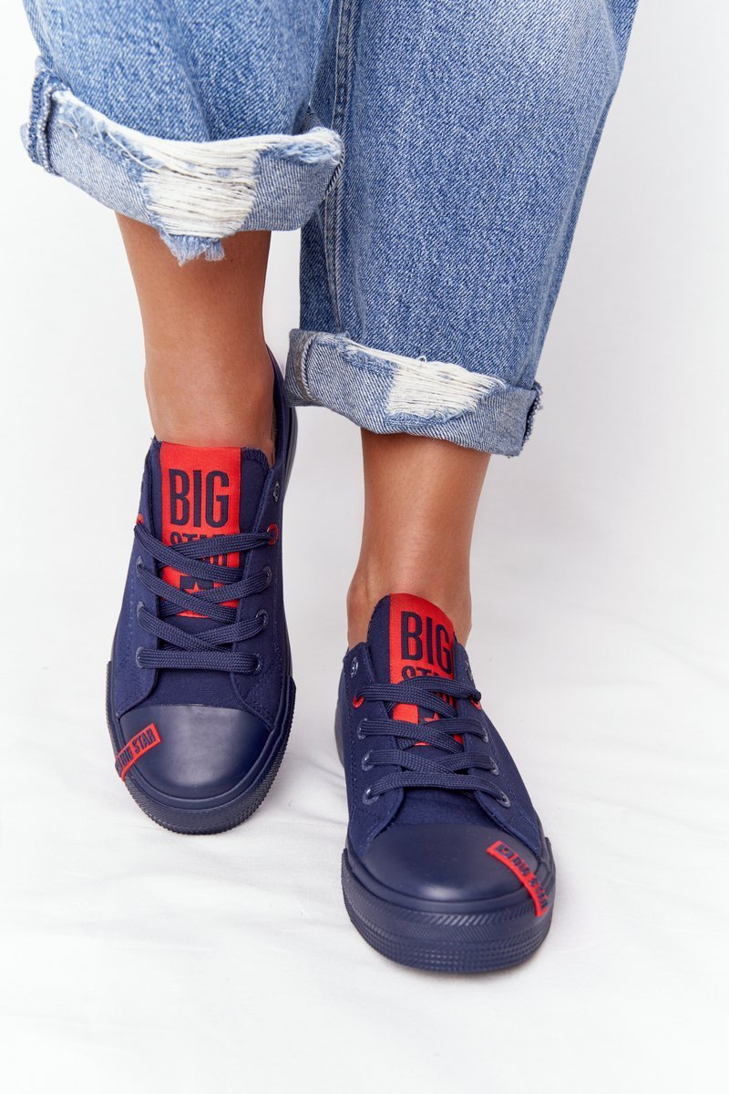 Women's Sneakers BIG STAR HH274676 Navy Blue