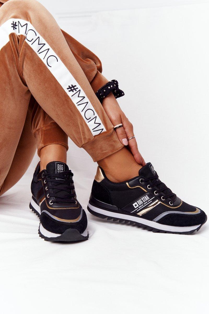 Women's Sneakers Memory Foam Big Star HH274272 Black-Gold