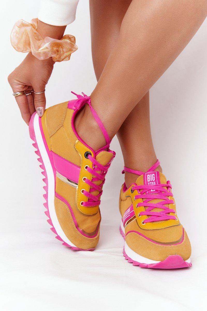 Women's Sneakers Memory Foam Big Star HH274273 Yellow
