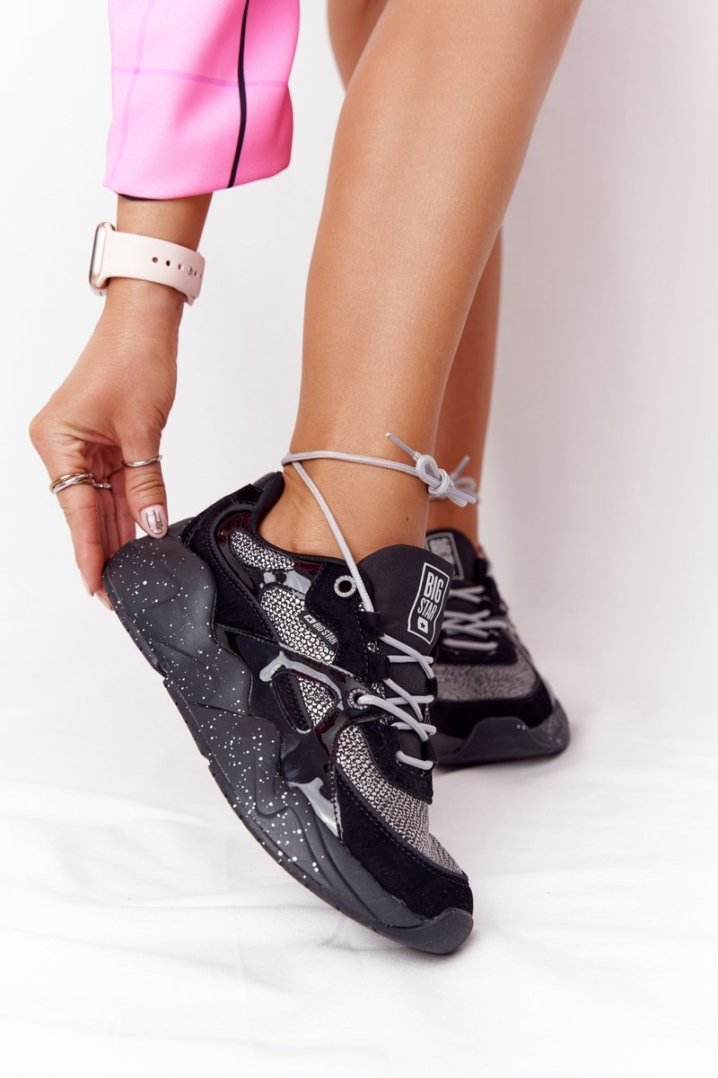 Women's Sneakers Memory Foam Big Star HH274325 Black