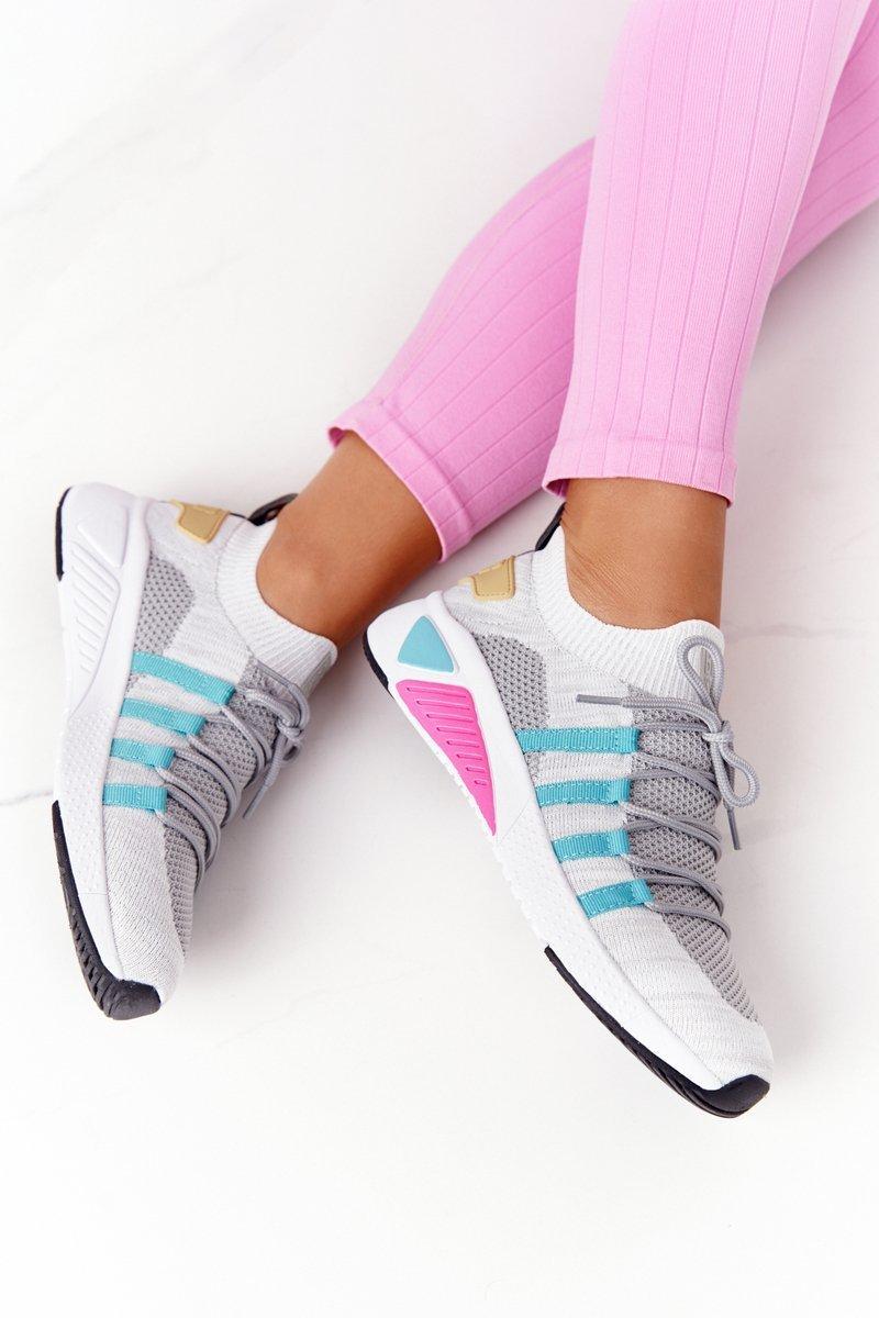 Women's Sneakers Memory Foam Big Star HH274531 White-Grey