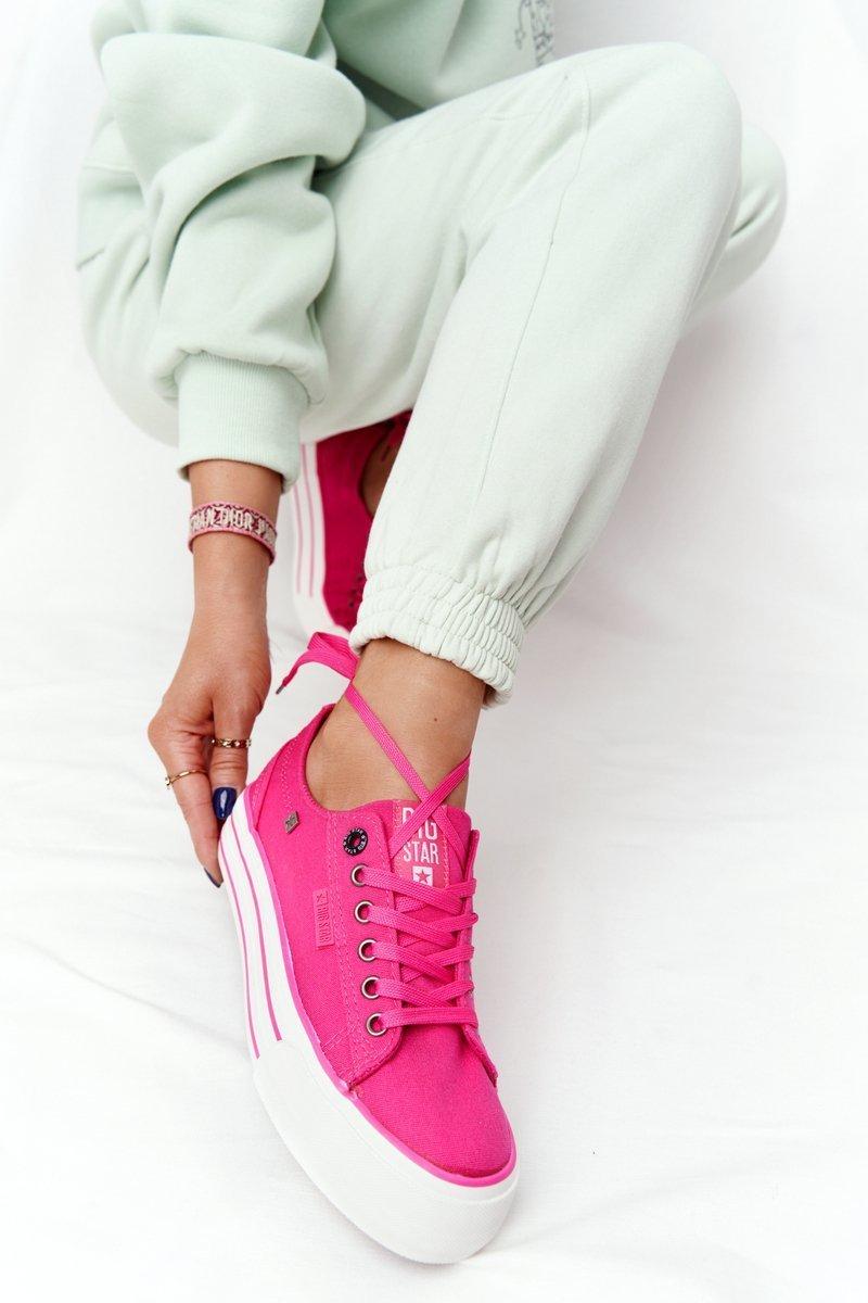 Women's Sneakers On A Platform BIG STAR HH274054 Fuchsia