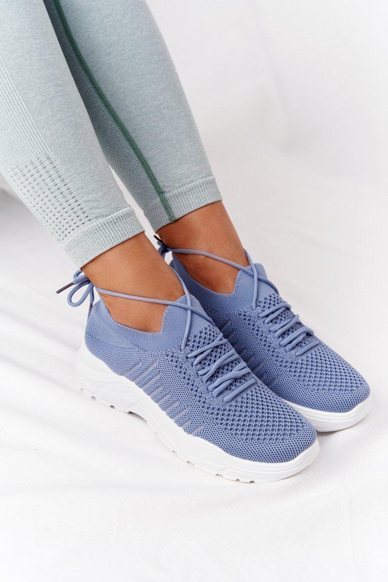 Women's Sport Shoes Sneakers Blue Ruler
