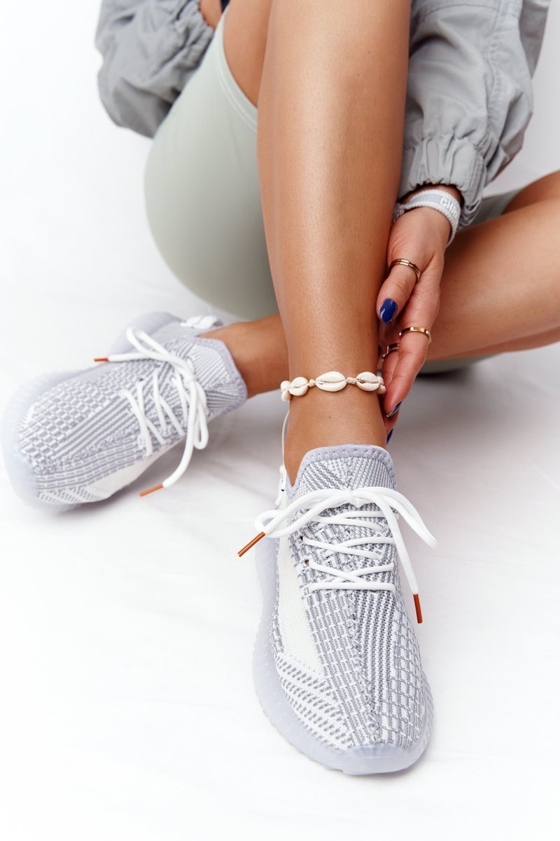 Women's Sports Shoes On A Rubber Sole Grey Freestyler