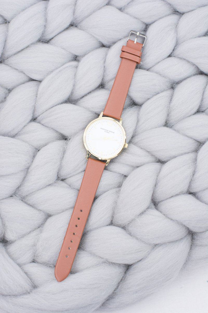 Women's Stylish Classic Brown Watch