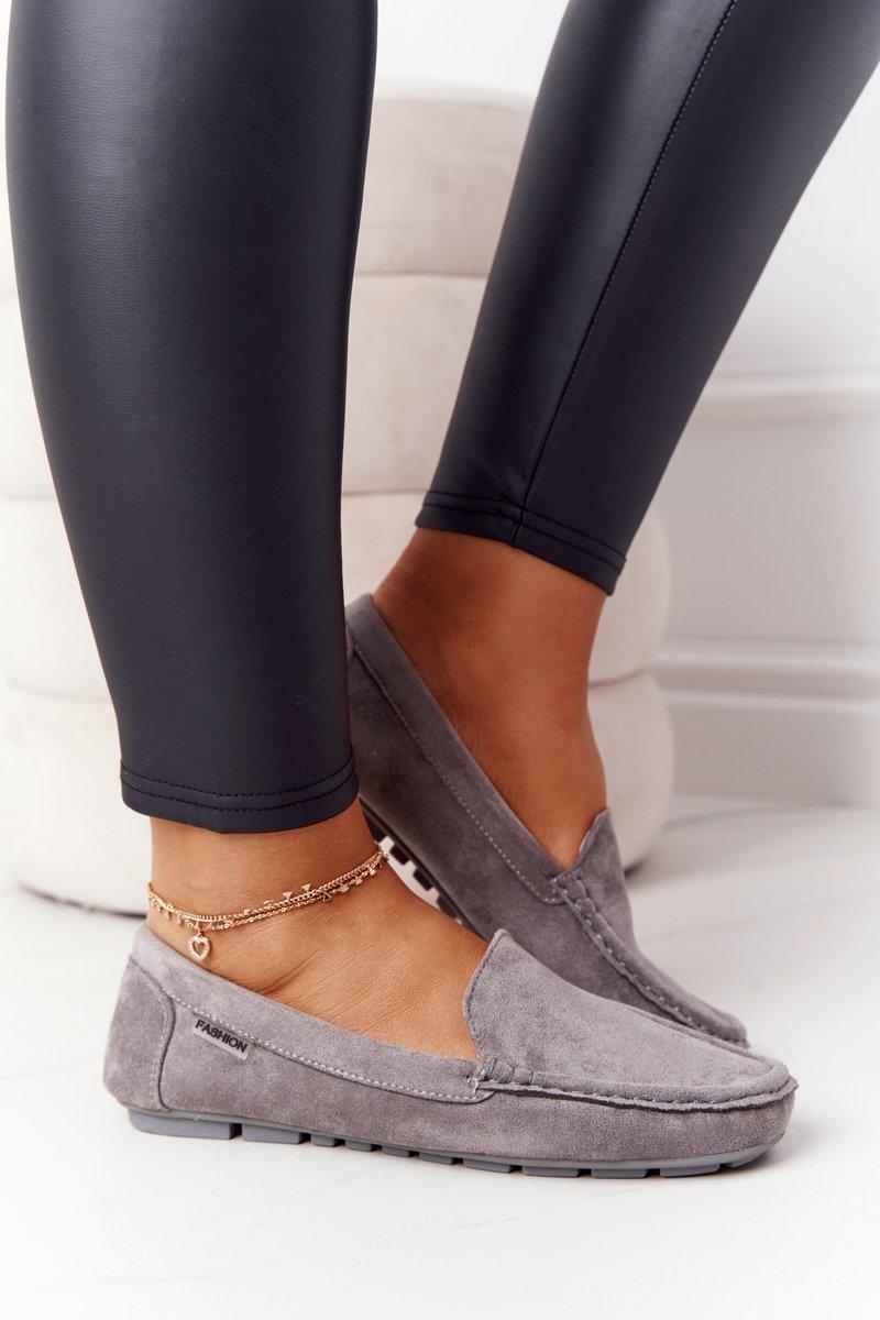 Women's Suede Loafers Grey San Marino