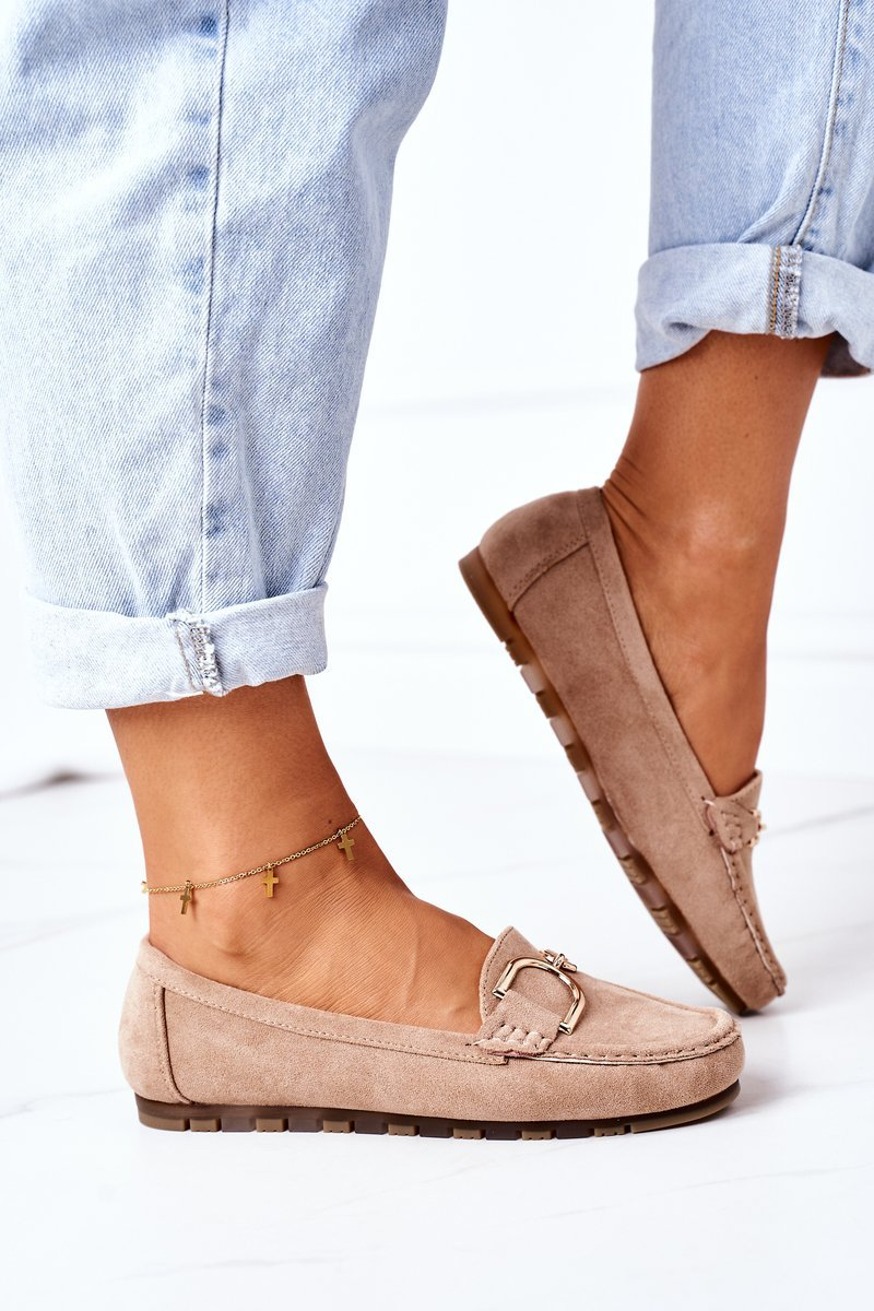 Women's Suede Loafers Light Brown Downtown