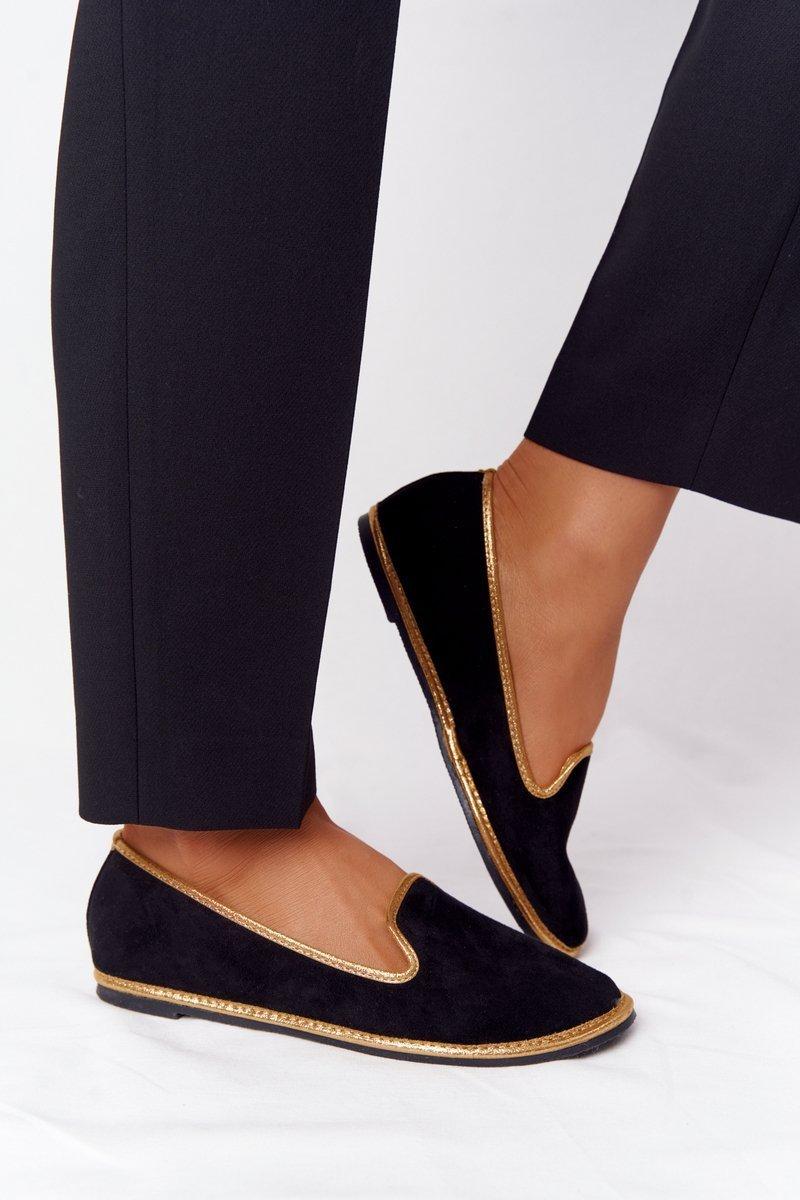 Women's Suede Loafers Lu Boo Black