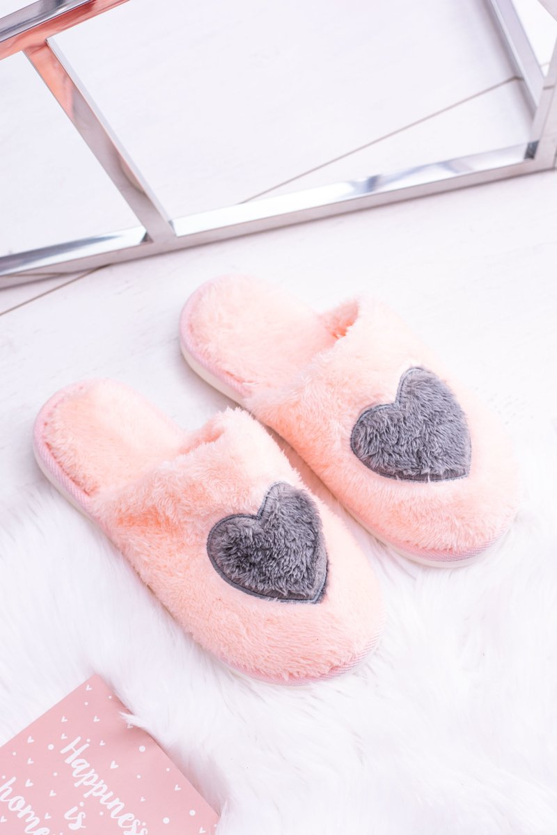 Women's Warm Pink Soft Slippers