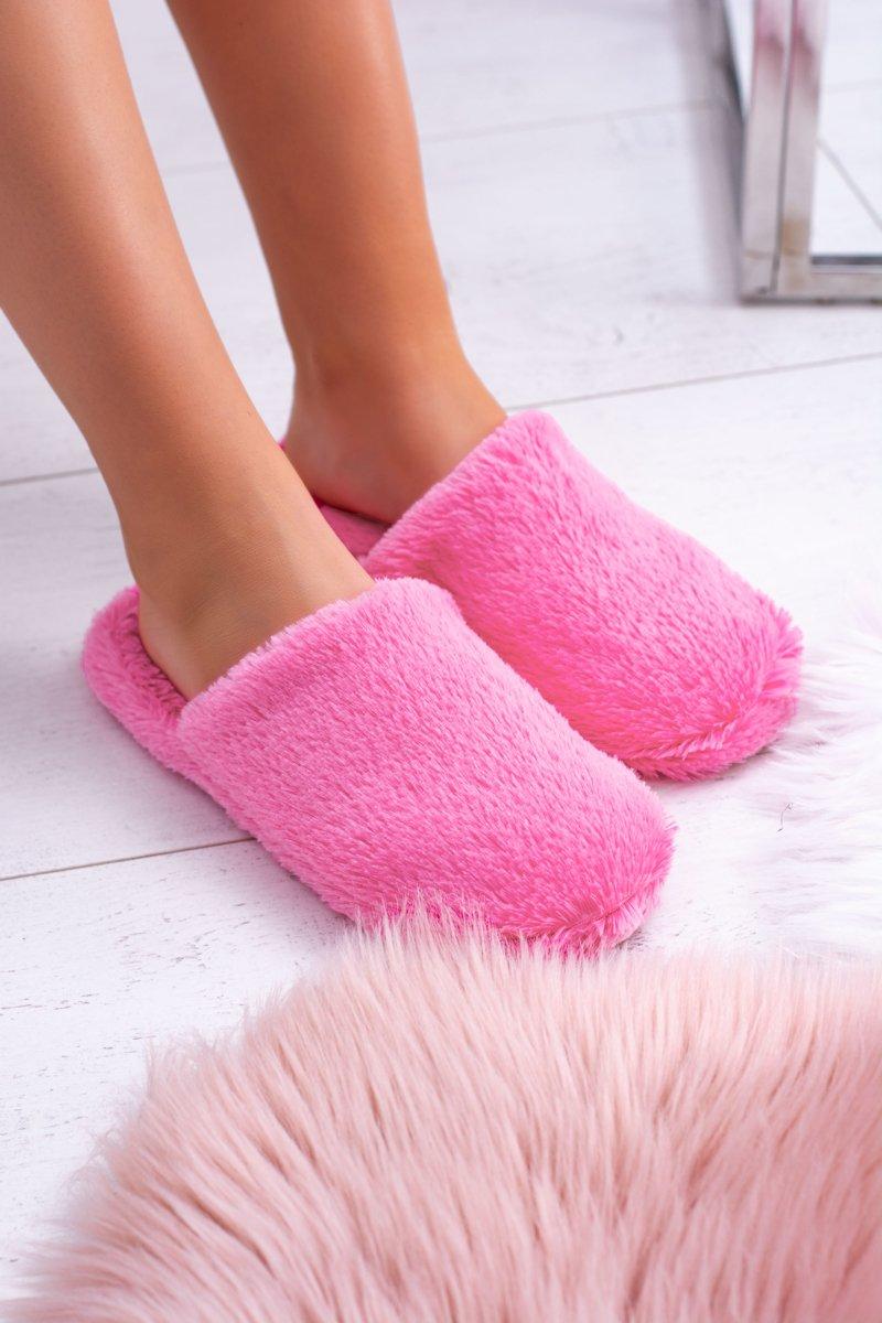 Women's fur slippers Dark pink Mimia