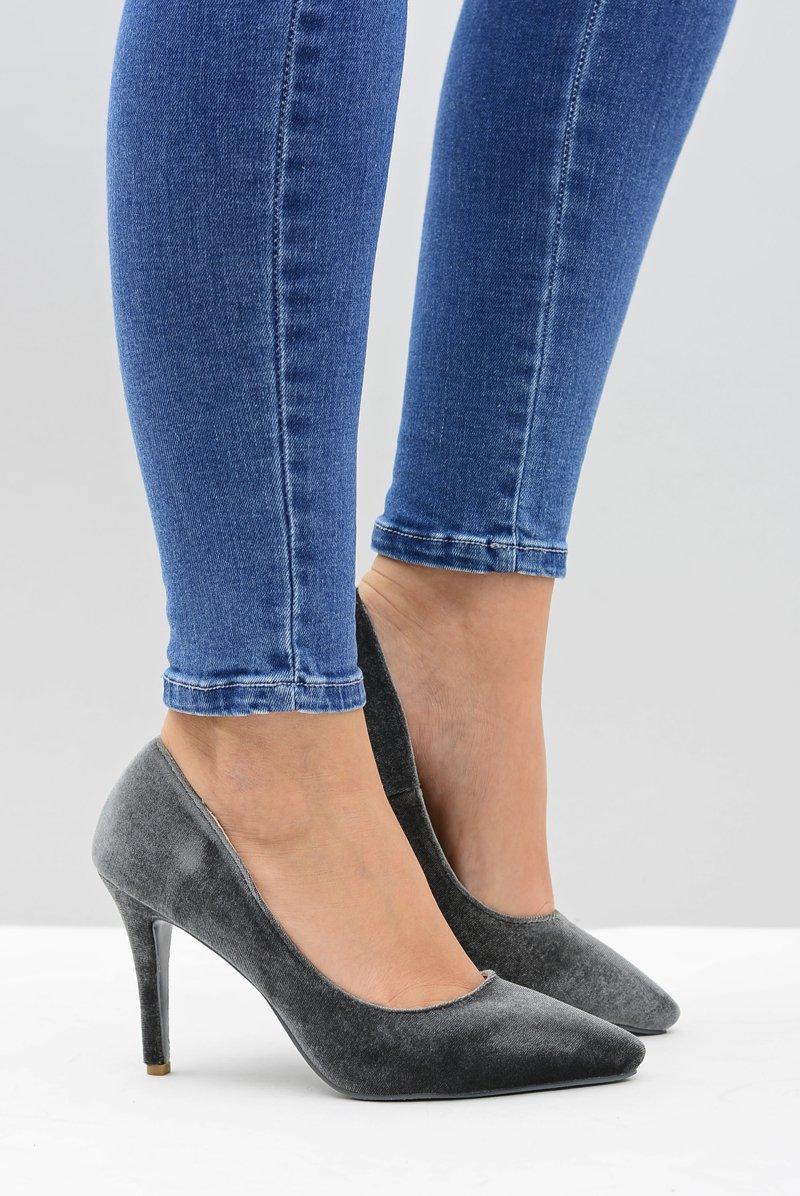 Women's stilettos Lu Boo Grey Velvet
