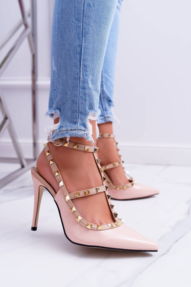 Women's stilettos Vices Lacquered On Studs Valenti Jets Pink