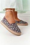 Espadrilles On A Braided Platform Big Star AA274680 Grey