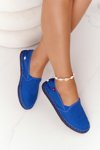 Espadrilles On A Braided Sole Big Star DD274A136 Navy Blue
