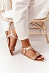 Flat Women's Sandals Taupe Willow