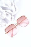 Gold Square Sunglasses Brown-Pink Ombre